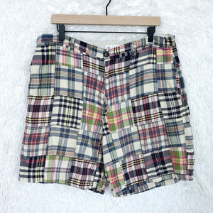 J Crew | Vintage Madras Plaid Shorts Size 35
